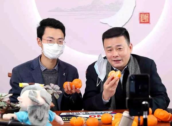 央视关注!衢州市长汤飞帆开直播卖柑橘